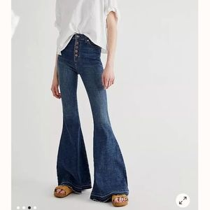 Free People Irreplaceable High Rise Flare Jeans 26